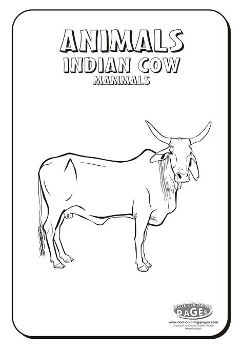 Indian Cow Coloring Page Cow Coloring Pages Cool Coloring Pages