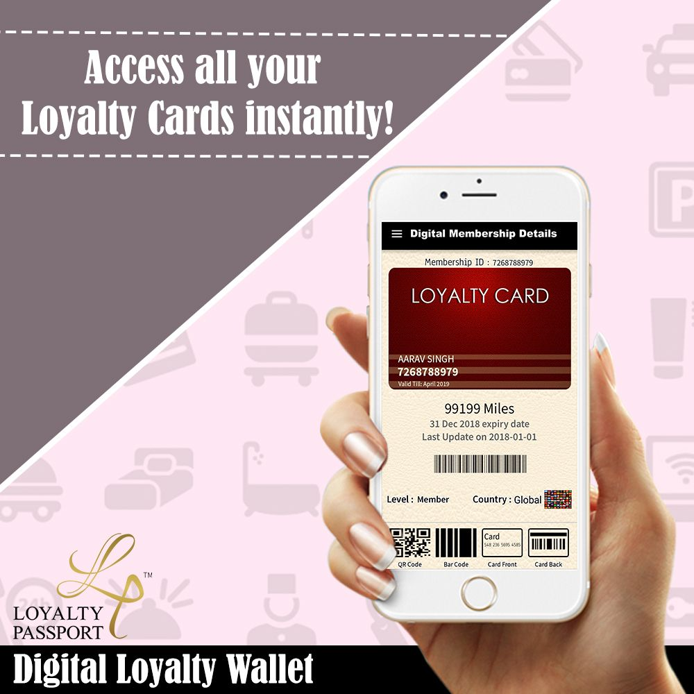 Easy u instant access to your favourite loyalty cards from dining