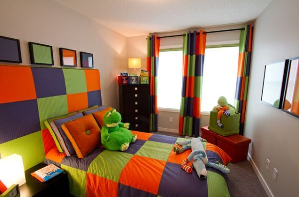 Triadic childrens room this childrens room is triadic because it has three colours that are