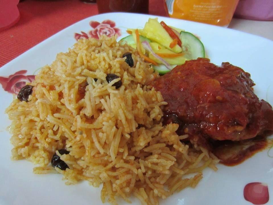 Nasi Tomato Dan Ayam Masak Merah Simple Koleksi Resepi Emak Malaysian Cuisine Malay Food Rice Dishes
