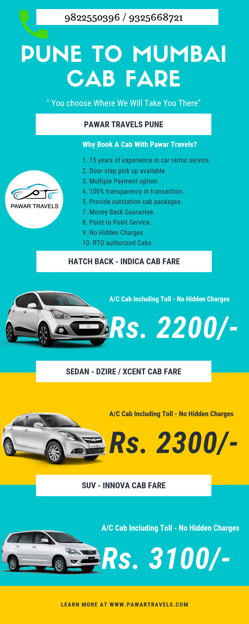 Book One Way Cab Pune To Mumbai At Affordable Fare & No
