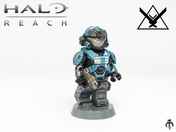 Halo reach kat halo red vs blue pinterest halo reach - Lego spartan halo ...