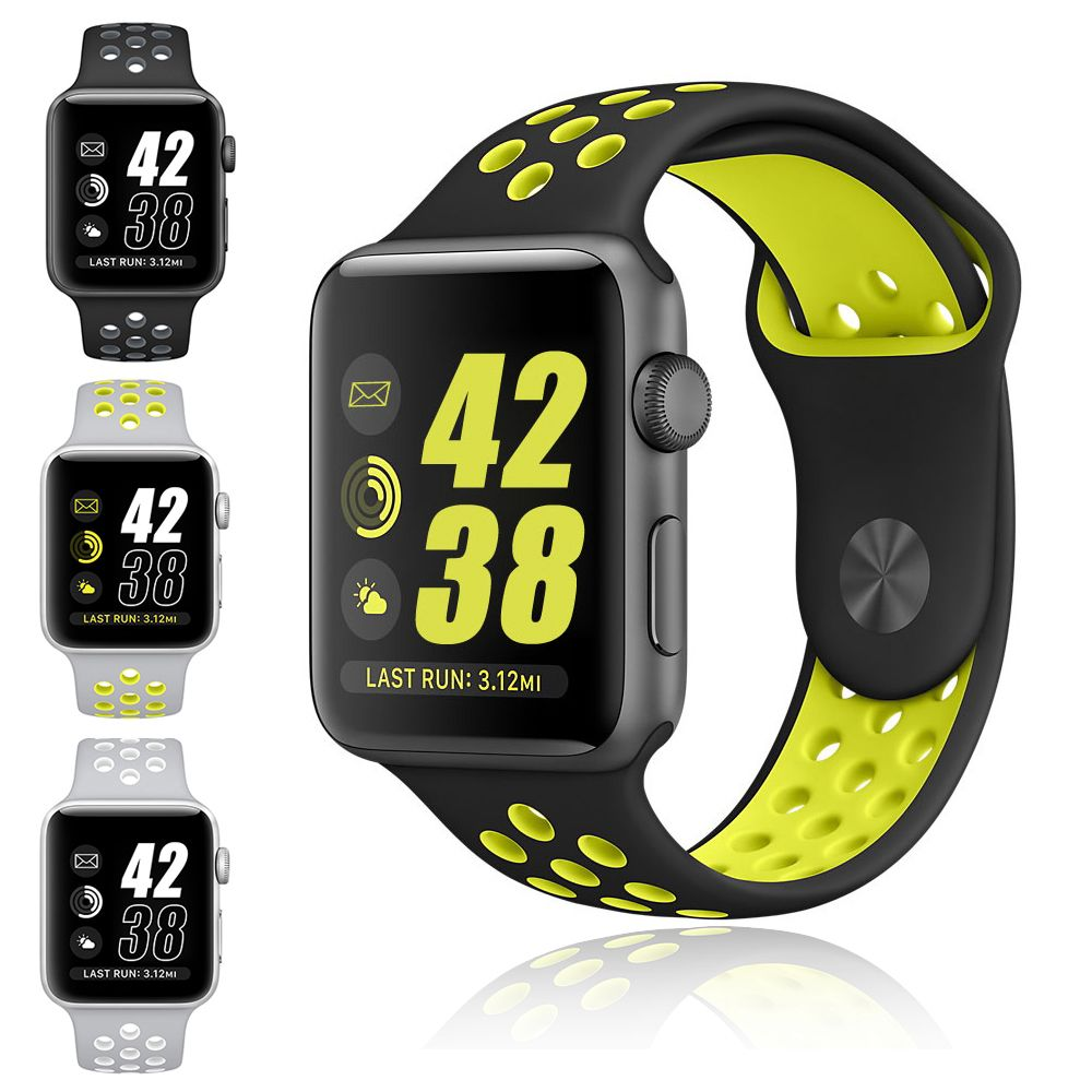 8fe67bab4d7e Click to Buy    Silicon Sports Band Strap for NIKE + Apple Watch ...
