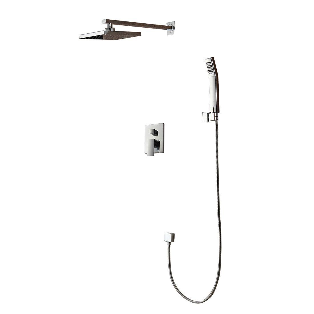 Modern Contemporary Chrome Shower Faucet System 8\