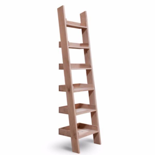 premium selection 7687d 4df87 Light Raw Oak Small Shelf Ladder (bookcase) | Storage ...