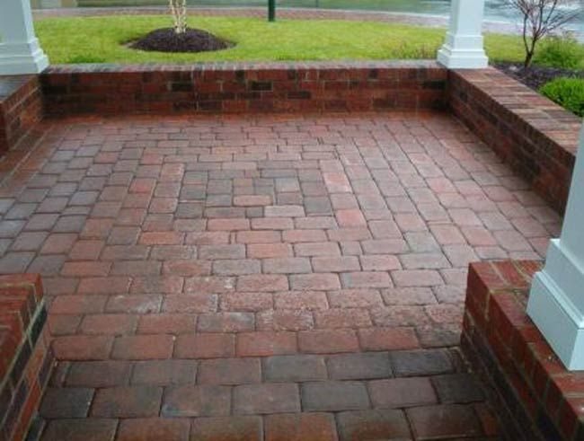 Exceptional Paver Patio Designs | Concrete Patio Pavers Used For A Gazebo In Goochland,  Virginia