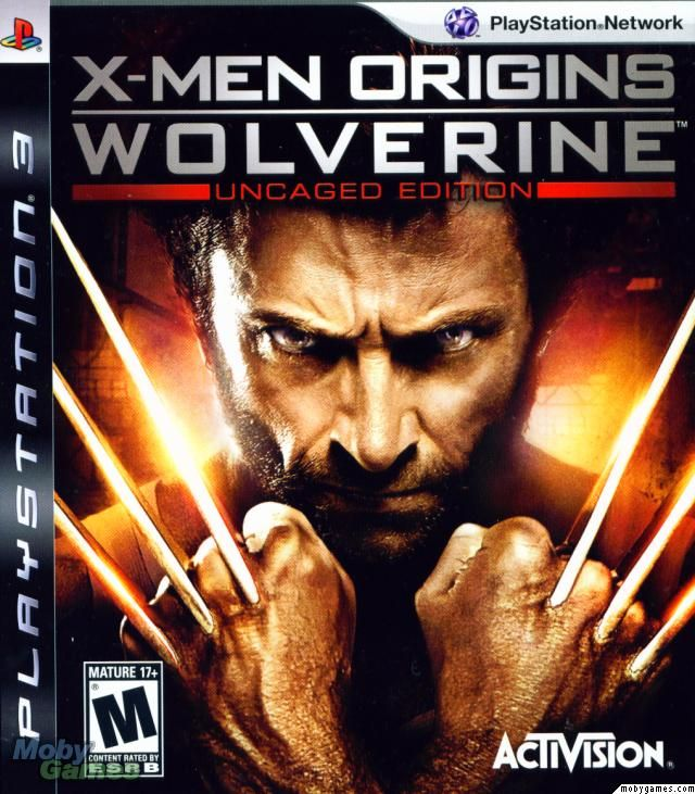 X Men Origins Wolverine Uncaged Edition Playstation 3 Front Cover X Men Wolverine Xbox 360 Games