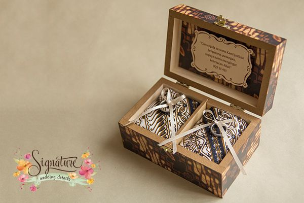 Batik Themed Wedding Ring Box