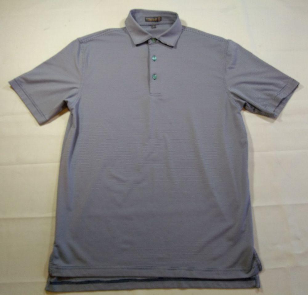 6d62c54cf71 Peter Millar Summer Comfort Men s Golf Shirt Small Striped Blue   White  Polo  PeterMillar  PoloRugby