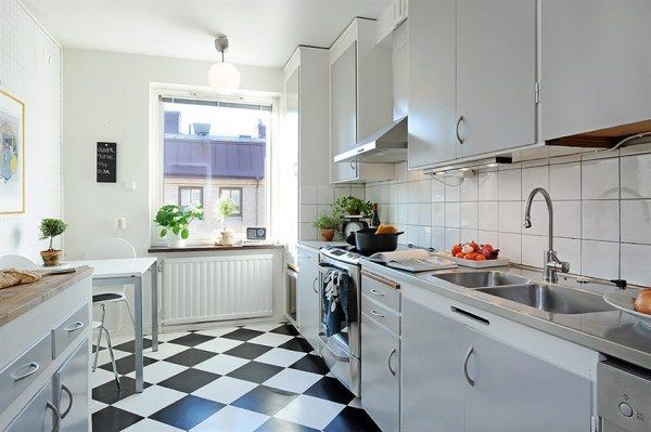Amazing Images About Kitchen On Pinterest Modern With Black And White Tile Kitchen