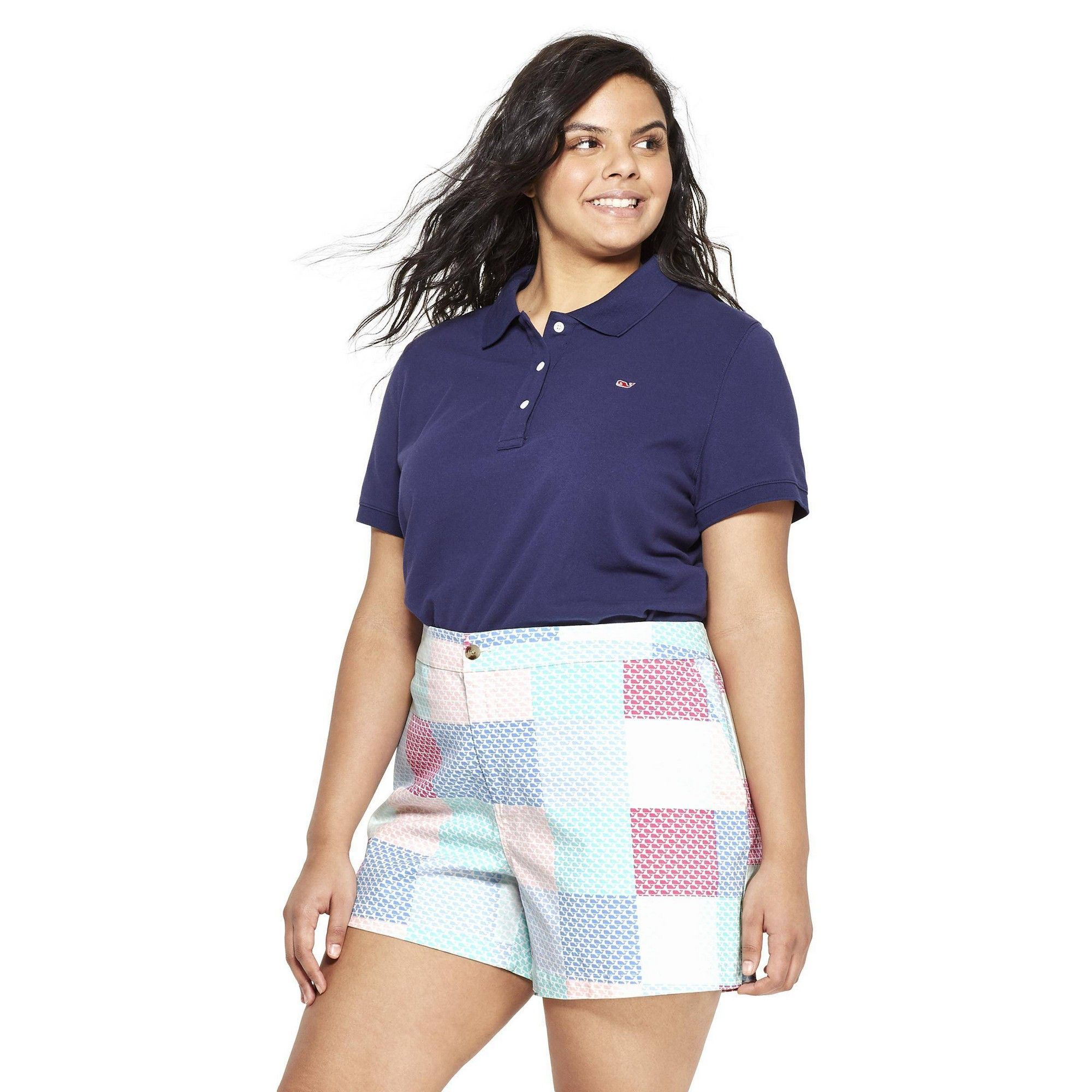 a08d79e385 Women's Plus Size Short Sleeve Polo Shirt - Navy 1X - vineyard vines for  Target,