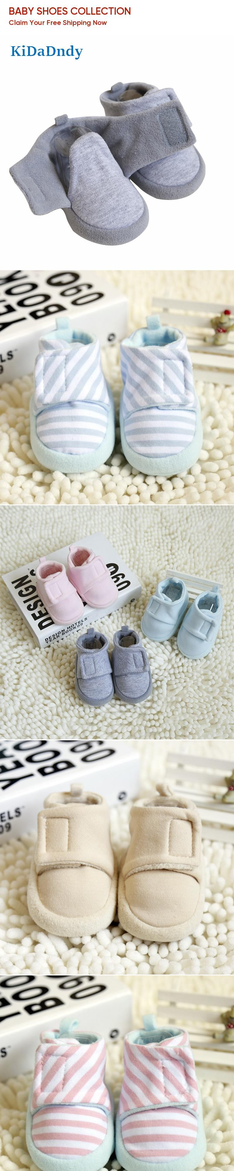 2017 autumn new 0-1 year old baby shoes soft bottom fleece baby shoes newborn feet anti-shoes GXJ095