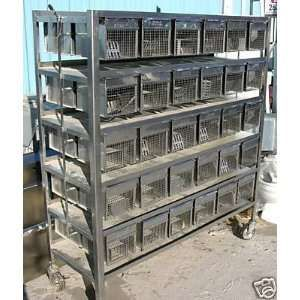 Hoeltge Mice rat lab cage rack 60 cells stainless steel