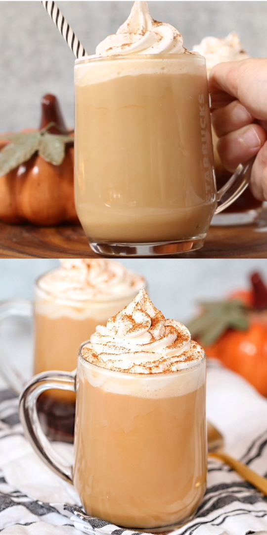 Absolutely decadent cinnamon dolce latte copycat recipe - just like Starbucks, but we'll show you how to make it at home! Click for full recipe!  #cinnamondolce #Starbuckscopycat #Starbucksrecipe #coffee #latte