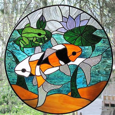 Free koi pond staind glass patterns yahoo image search for Koi pond glass