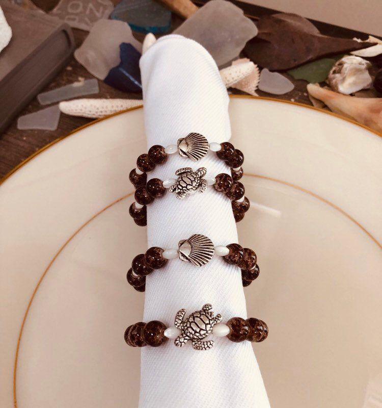 Turtle & Shell Napkin Rings #napkinrings