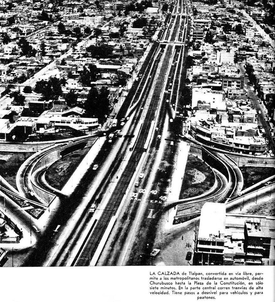 Calz. de Tlalpan en 1961.