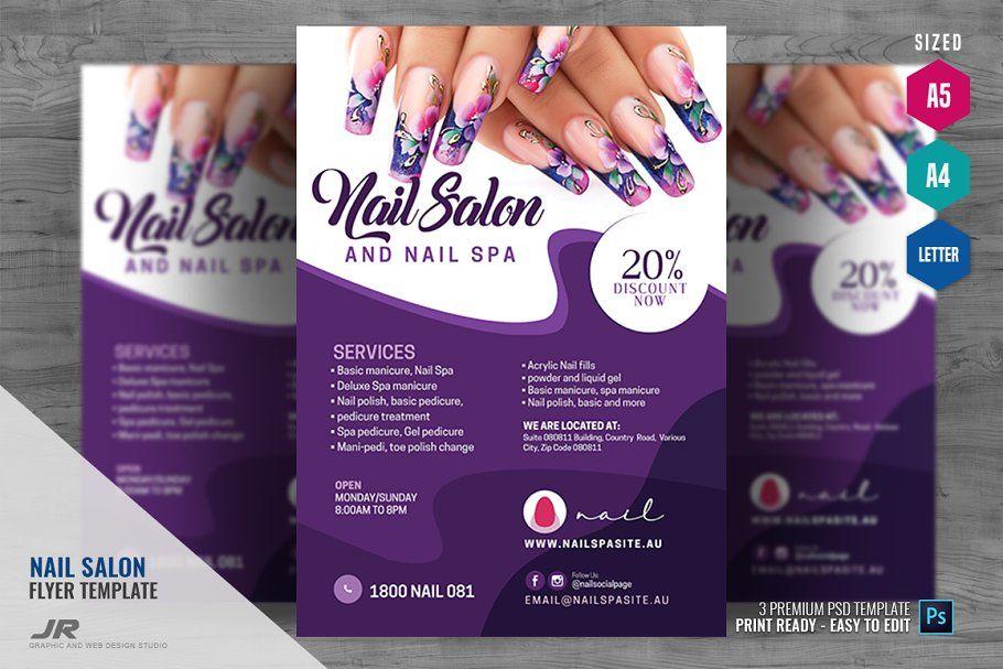 Nail Salon And Spa Flyer Nail Salon And Spa Spa Flyer Beauty Nail Salon