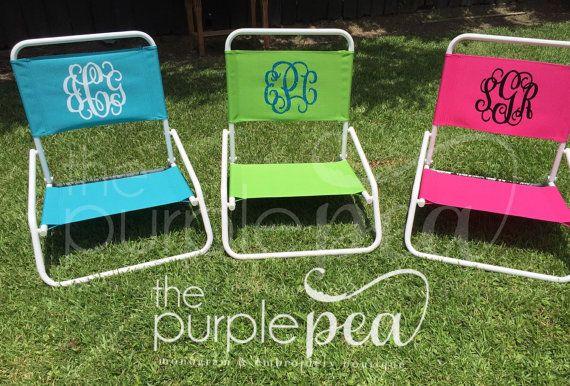 Monogrammed Beach Chair Beach Chair Sand By Thepurplepeaboutique