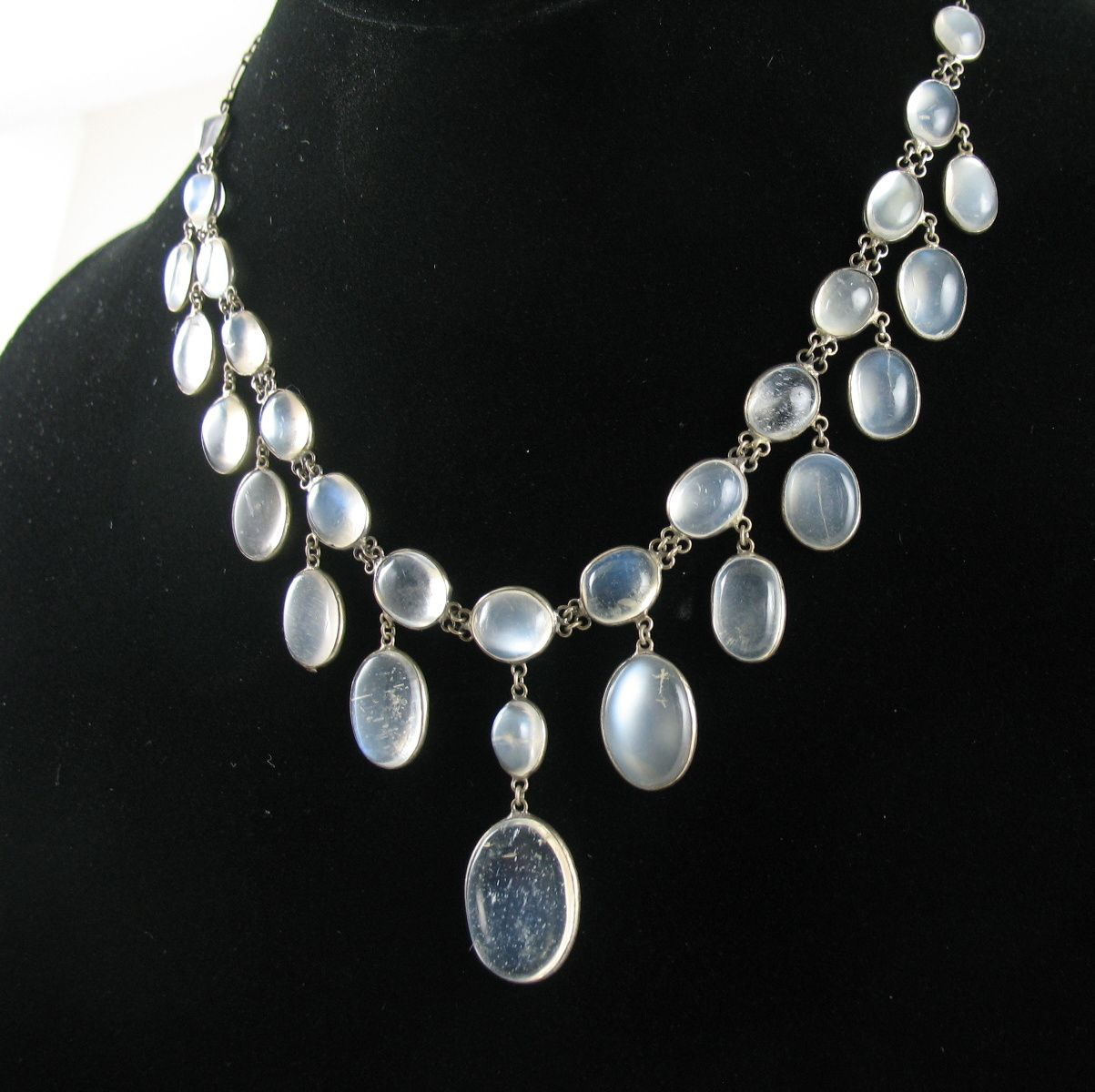 antique moonstone necklace