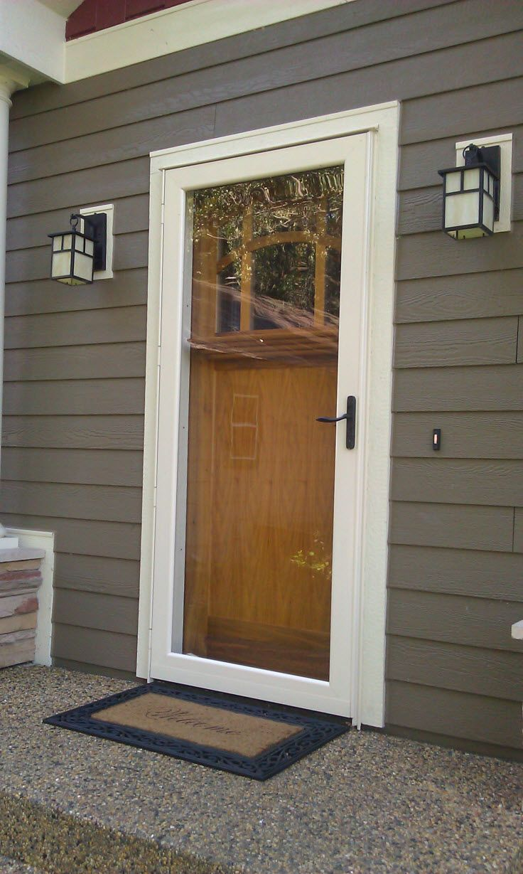 Exterior Doors A Full View Storm Door Is A Perfect Option To