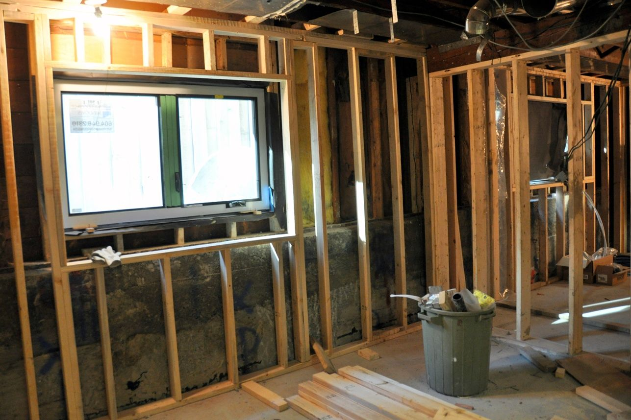 Framing Basement Walls With Basement Lighting Ideas With Cost To Frame Basement Walls With Basement Framing Basement Walls Framing A Basement Basement Lighting