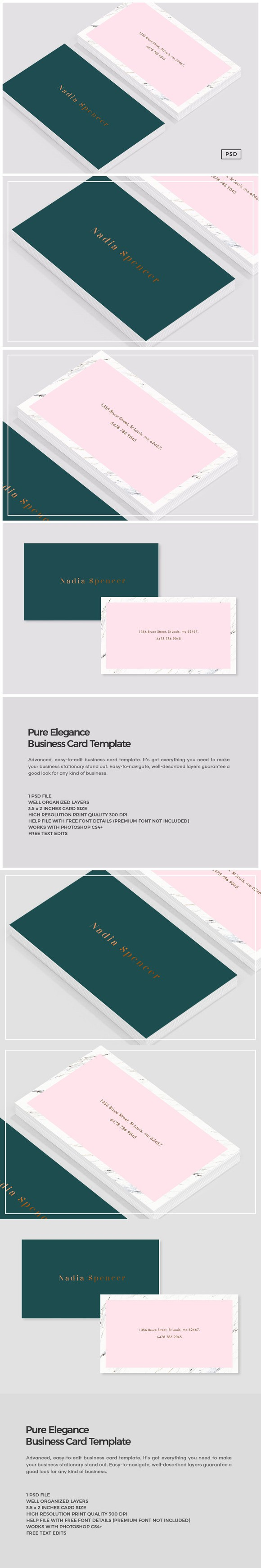 Pure Elegance Business Card Template