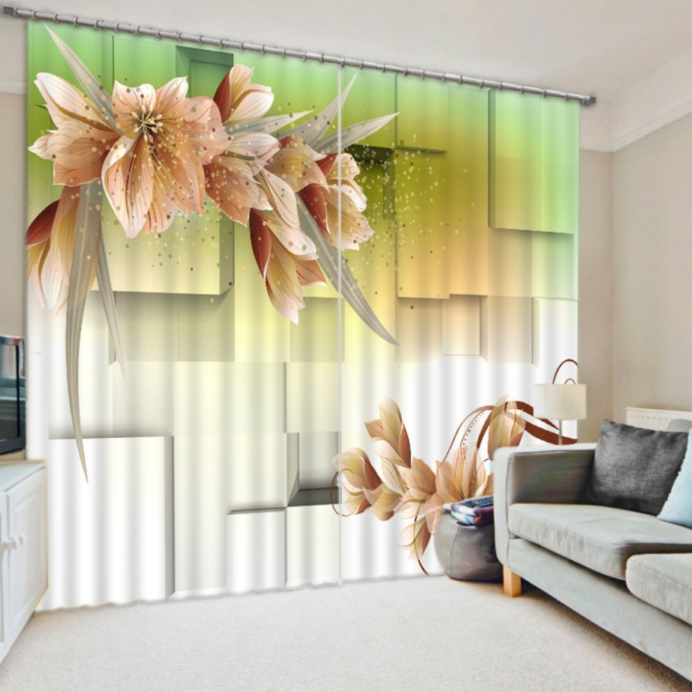 """photo curtain to go 3d photo printing Photo Curtain /""""FLOWER/"""" CURTAIN with Motif"""