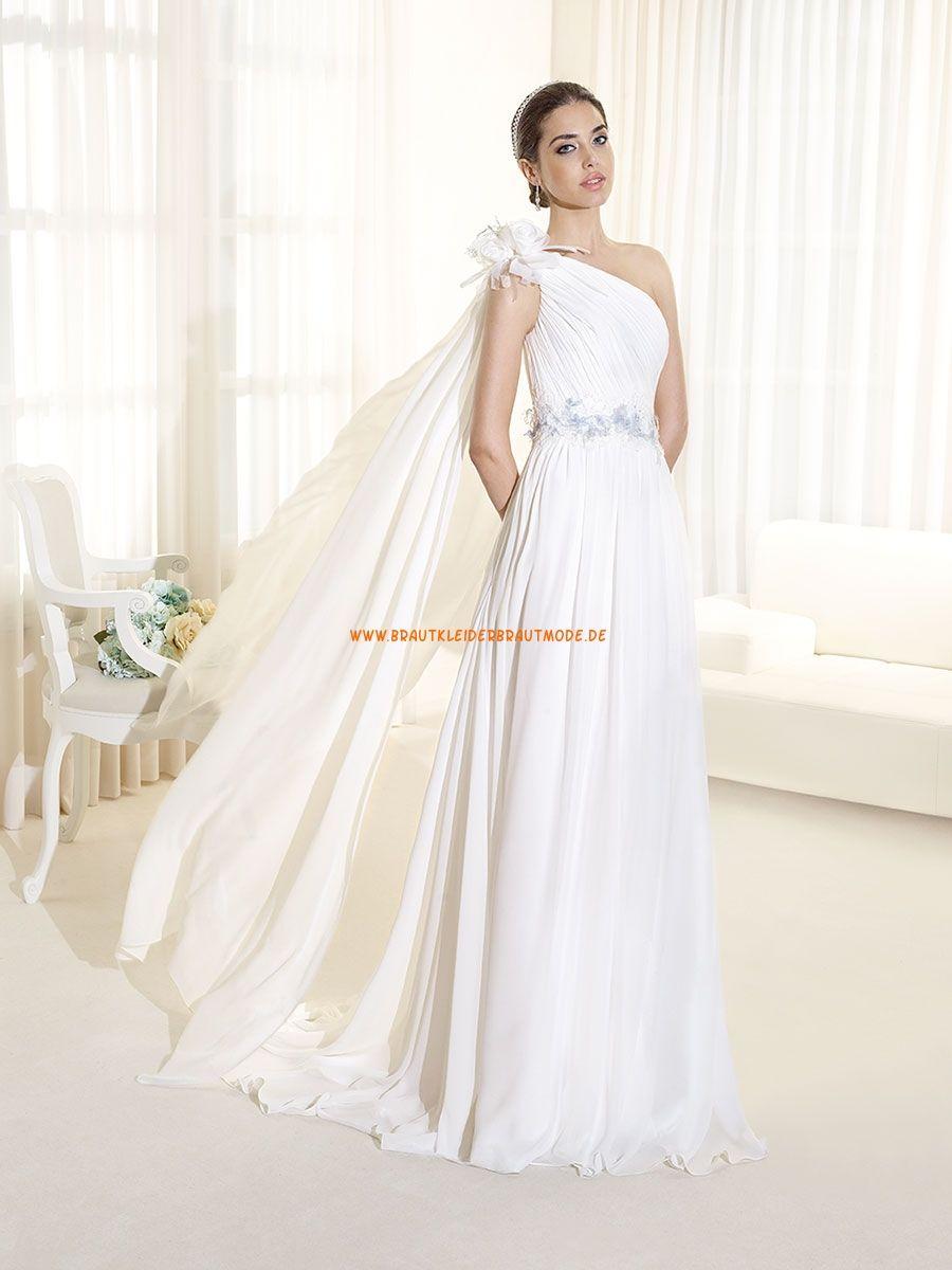 Glamouröse Romantische Hochzeitskleider aus Chiffon