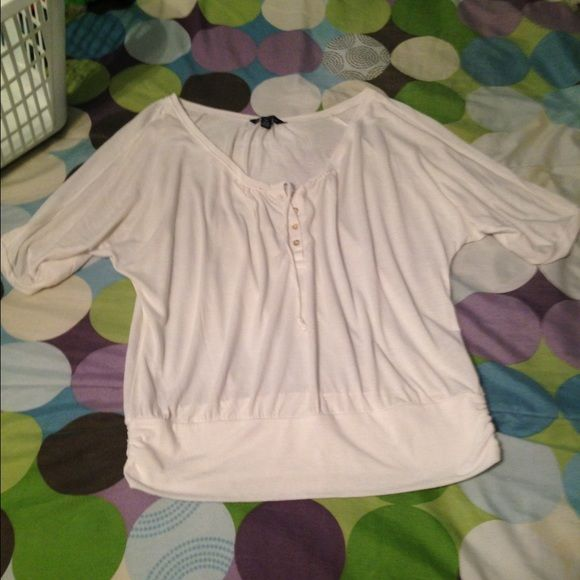 Dress shirt Good condition, light weight, more of an ivory color then white American Eagle Outfitters Tops Blouses