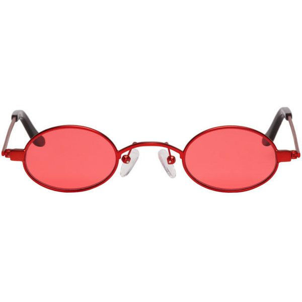 e7bceeaa1f Roberi and Fraud Red Doris Sunglasses ( 265) ❤ liked on Polyvore featuring  accessories