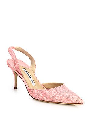 Manolo Blahnik Tweed Slingback Pumps buy cheap for cheap CmcOIF