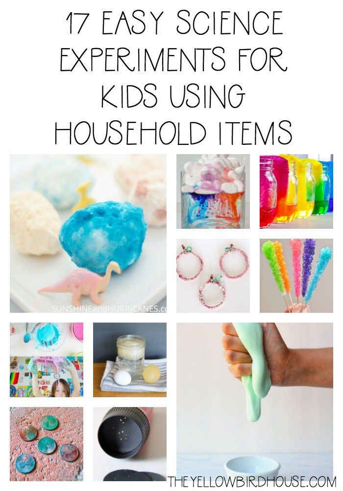 17 Easy Science Experiments For Kids Using Household Items