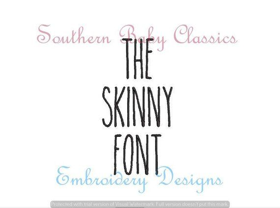 The Skinny Font Tall Block Font in 4 Sizes Design File for