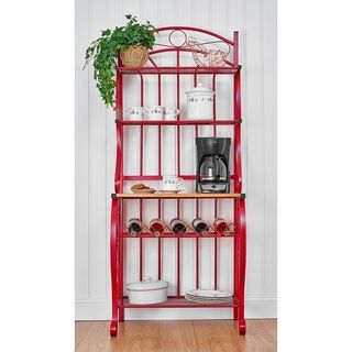 Baker S Rack Repurpose Spray Paint Metal Parts Red Sand And