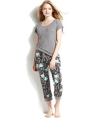 BCBGeneration Stella Tubular Top and The Crush Capri Pajama Pants - Shop All Pajamas & Robes - Women - Macy's
