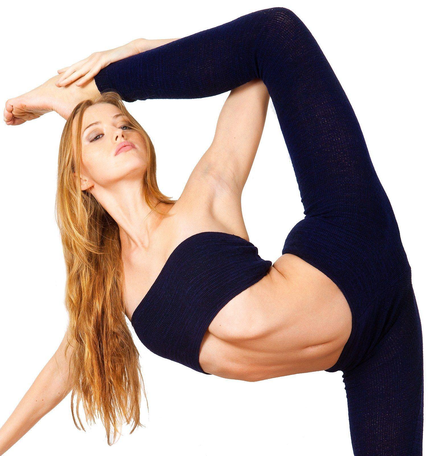 Stretch Knit Bandeau Tube Top Yoga Gymnastics Pilates KD dance New ...