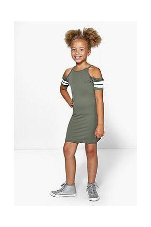 64e138433 Niña Vestidos y faldas - Boohoo Vestido Deportivo A Rayas Con Hombros  Descubiertos Para Niña