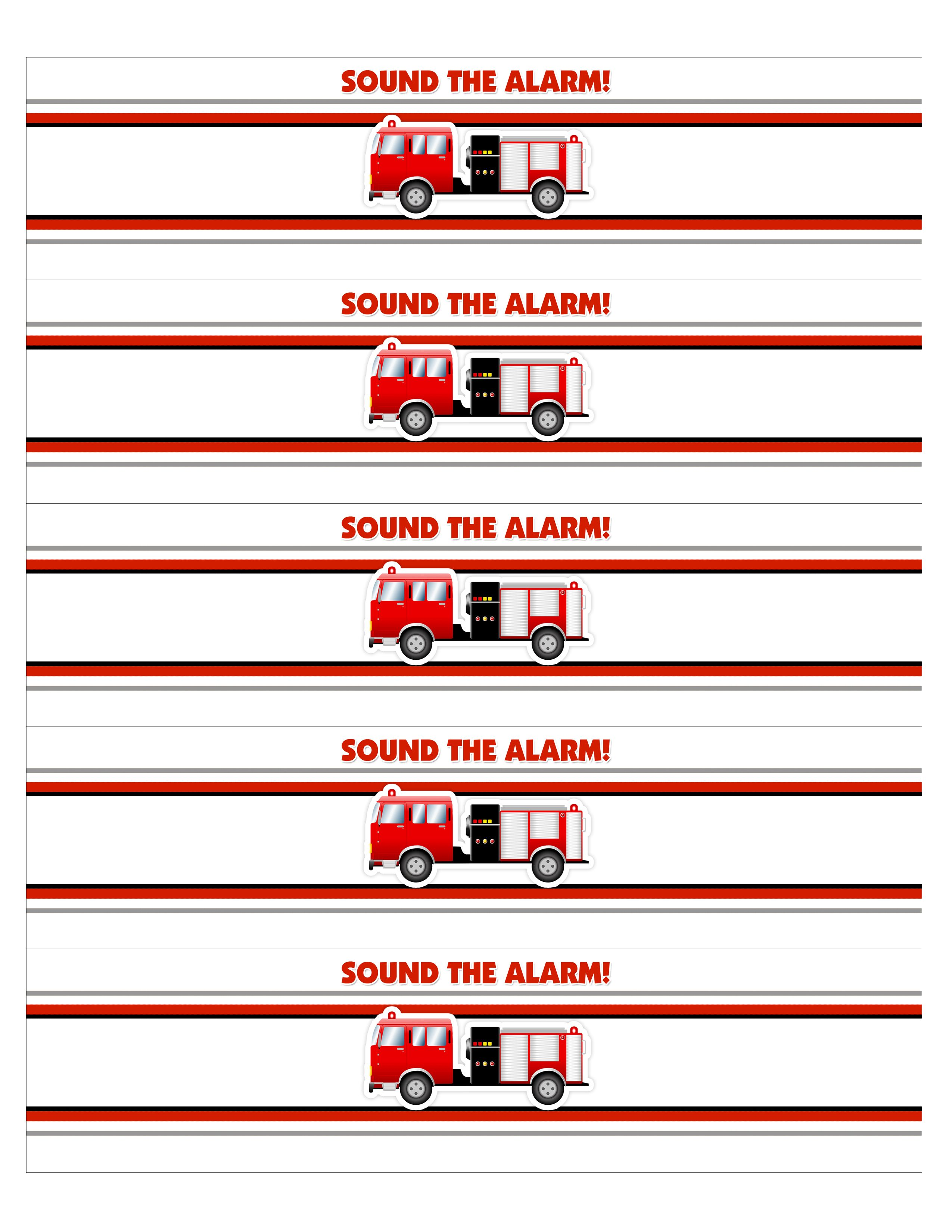 Fire Truck Birthday Party With Free Printables