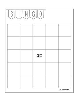 Bingo Blank Bingo Cards Template Fun For Math Reading Sight Words Blank Bingo Card Template Bingo Template Blank Bingo Cards