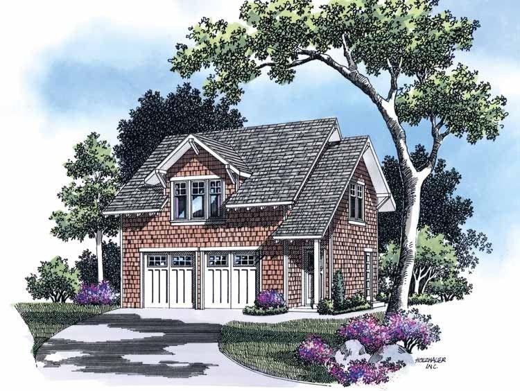 Eplans Craftsman Plan: HWEPL01848 - 633 ft²