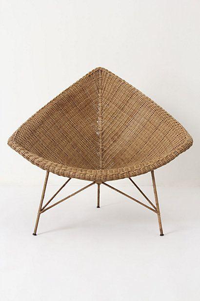 Silla de mimbre con patas de acero muebles Pinterest Sillas - muebles de bambu modernos