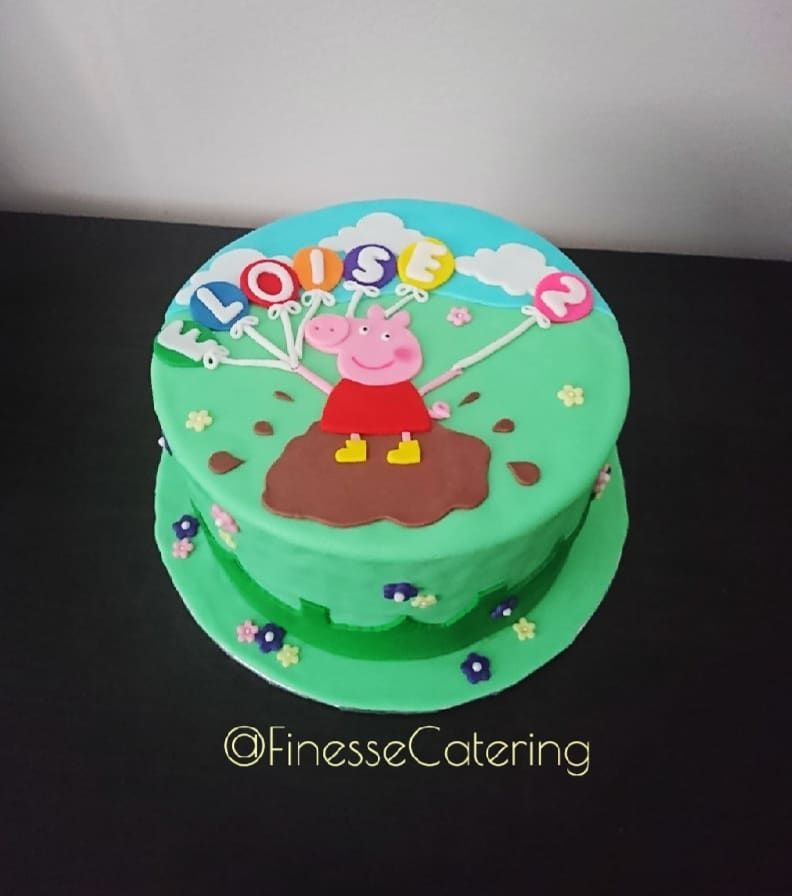 Peppa Pig Cake Flavour Chocolate Oreo Frosting Peppapig