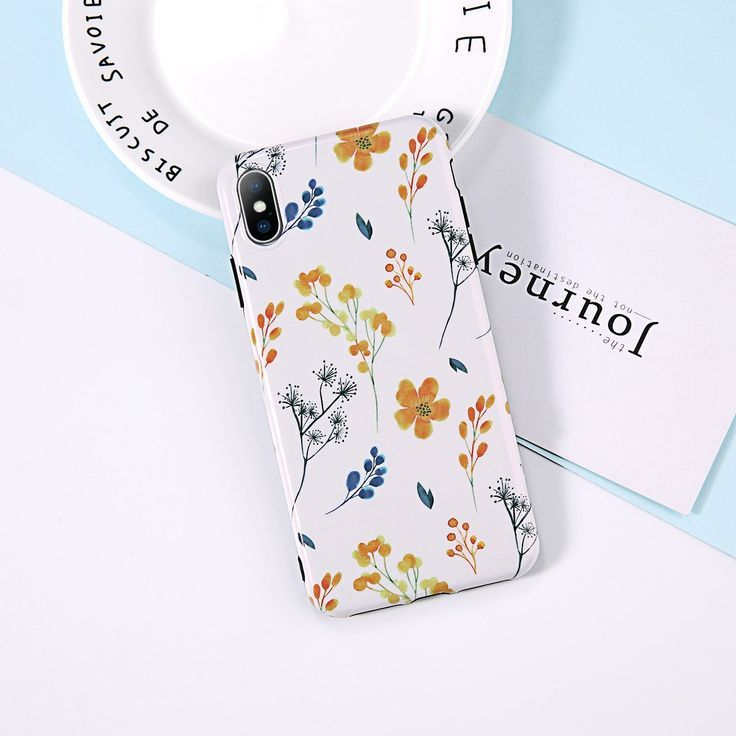 Moskado Phone Case For iPhone 6 6S 7 8 Plus X XR XS Max Case Painted Flower Leaf Pattern Glos... Moskado Phone Case For iPhone 6 6S 7 8 Plus X XR XS Max Case Painted Flower Leaf Pattern Glossy Soft IMD For iPhone 6 Phone Case,