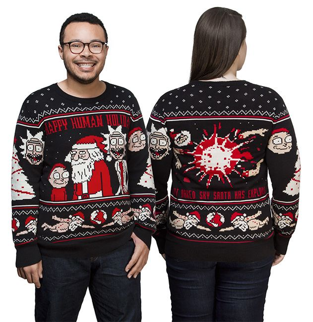 Rick and Morty Happy Human Holiday Knit Sweater | Holidays ...