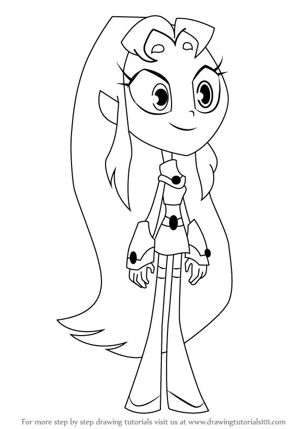 Learn How to Draw Starfire from Teen Titans Go (Teen