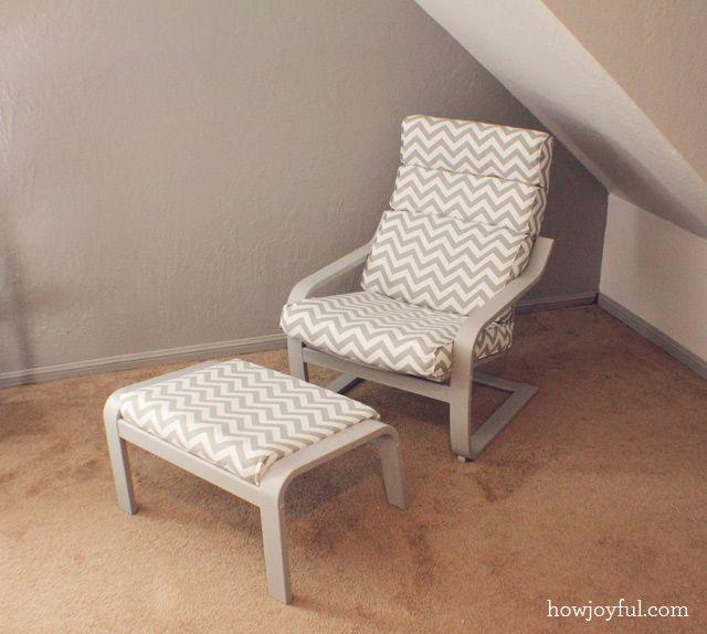 How Joyful | Nursery: Ikea poang chair recover | DIY Furniture ...