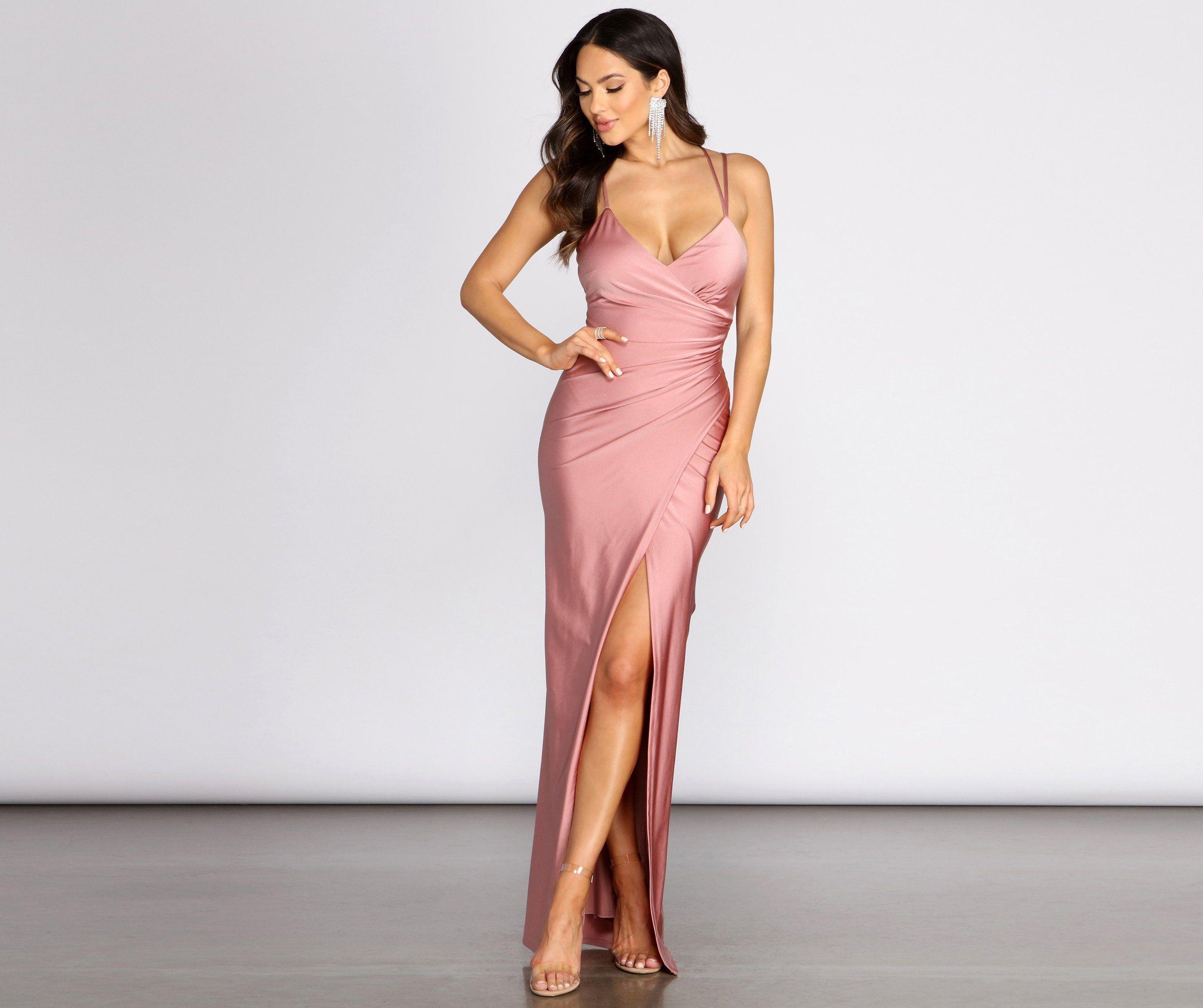 Candra Strappy Back Wrap Dress In 2021 Dresses Unique Dresses Wrap Dress Styles [ 2145 x 2560 Pixel ]