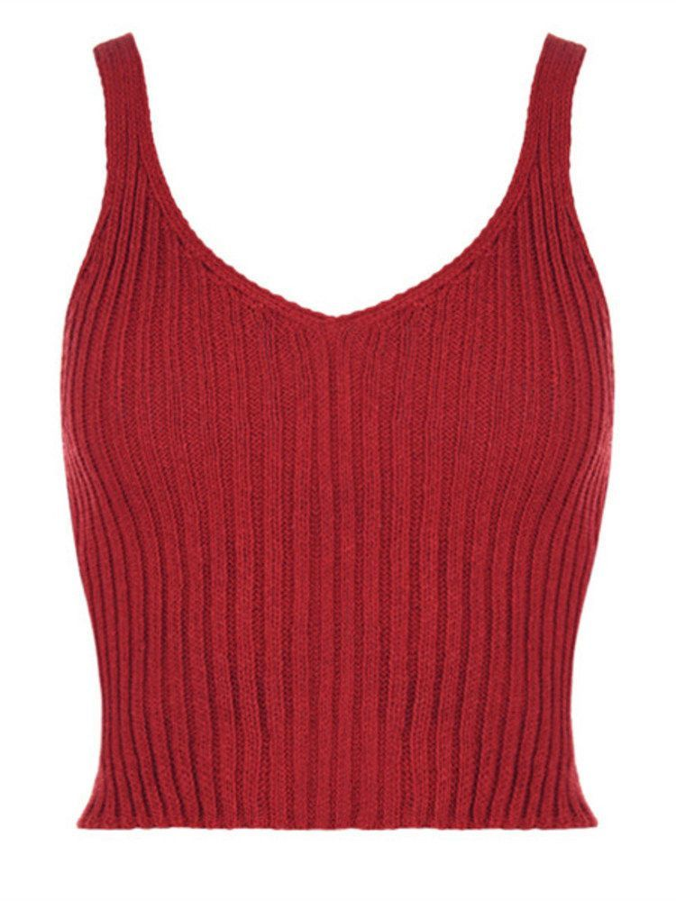 ee501216008f6 Description  Material Acrylic Knit Style Fashion Collar V-neck Sleeve  Length Sleeveless Season Spring Summer Fall Package included  1 Tank Top