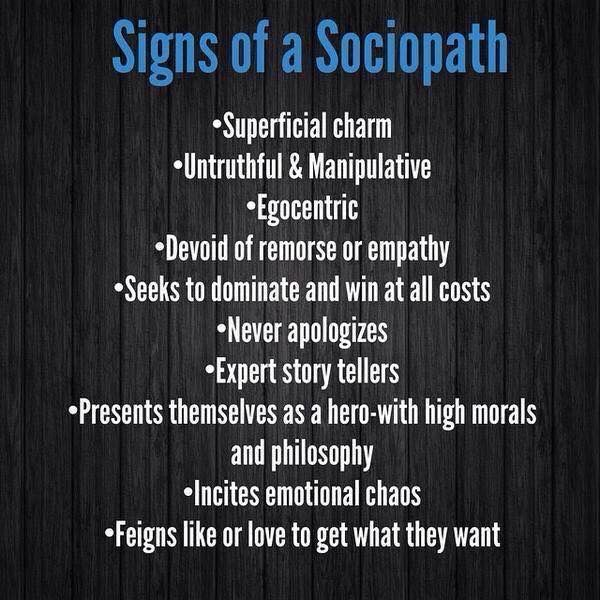 How to deal with a sociopath wife